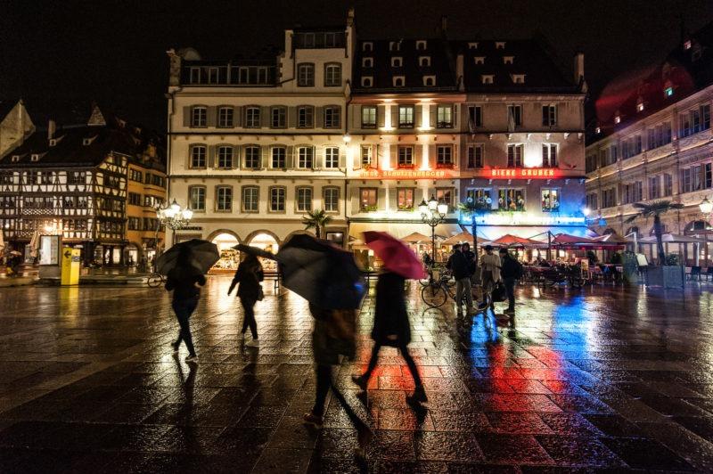 Balade nocturne par temps pluvieux