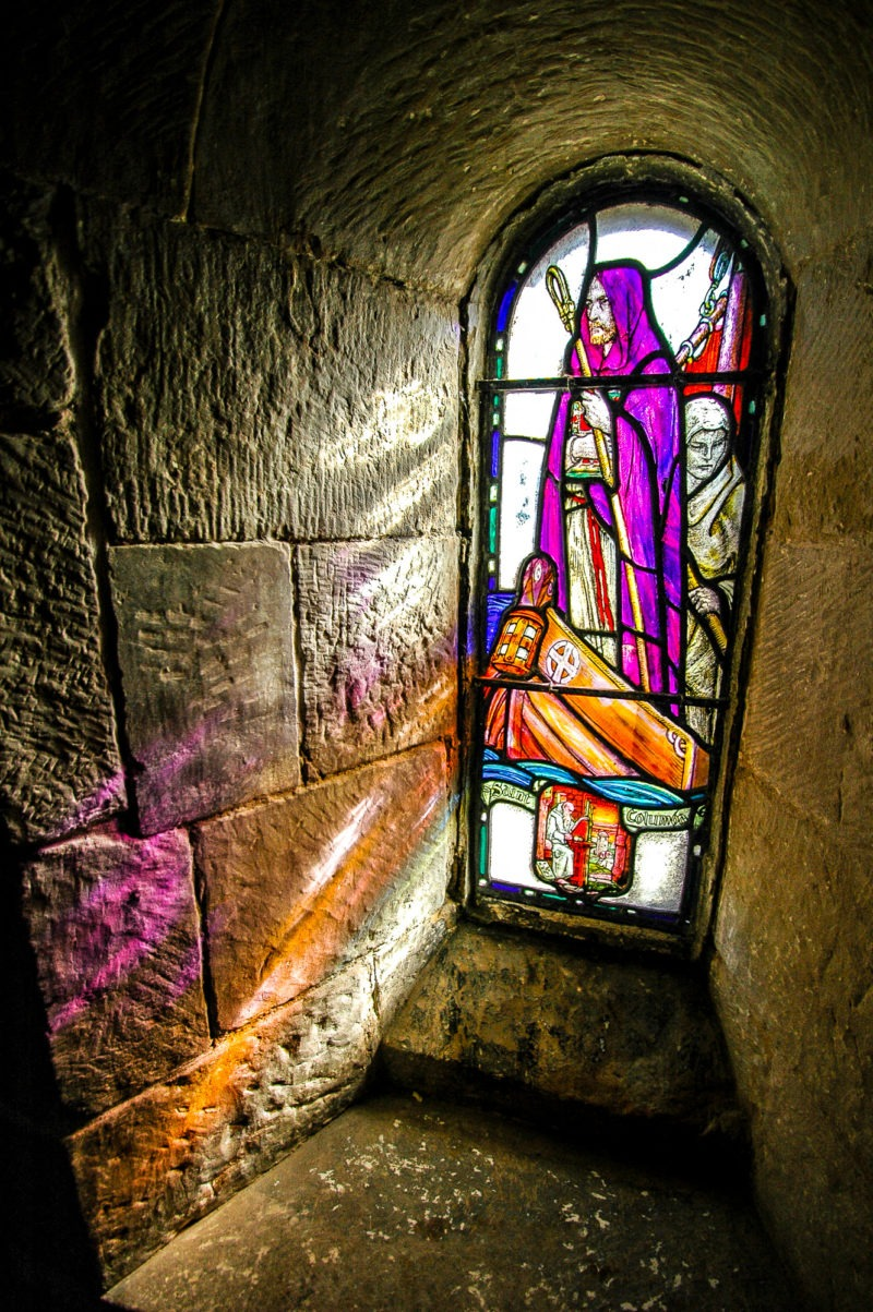 Vitraux de chapelle, chateau d'Edimbourg