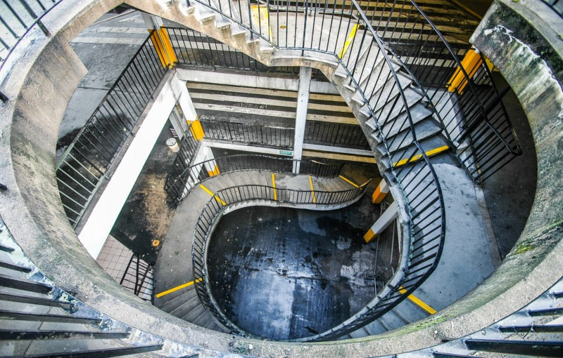 Escalier parking, Edimbourg