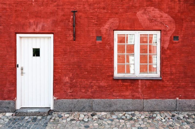 Façade rouge Forsvarets efterretningstjeneste kastellet, Copenhague