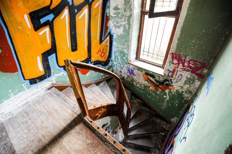urbex - Escaliers , usine chaussette