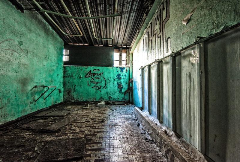 urbex - Toilettes d'usine