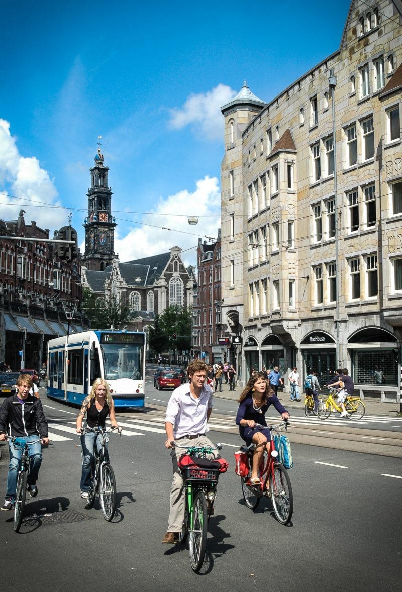 Amsterdam, cyclistes