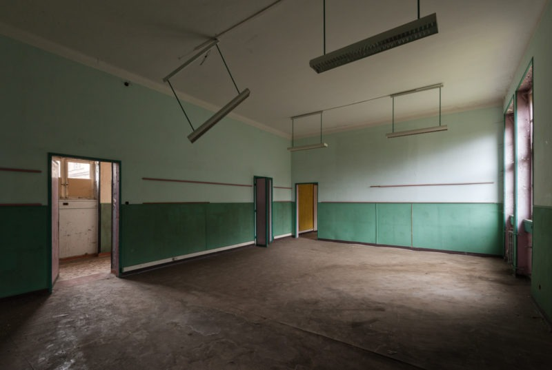 Salle de classe verte