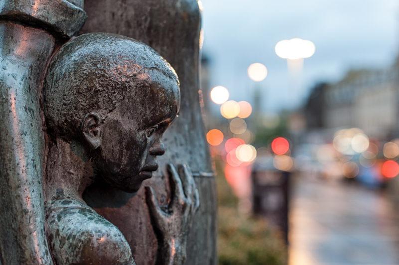 Statue fils Edimbourg